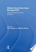 Whither South East Asian Management