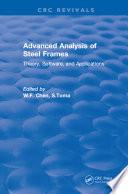 Advanced Analysis of Steel Frames