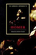 Pdf The Cambridge Companion to Homer