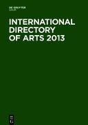 International Directory of Arts 2013