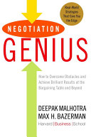 Negotiation Genius Pdf/ePub eBook
