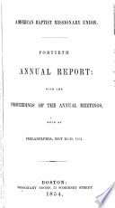 Annual Report  with the Proceedings of the Annual Meetings Book