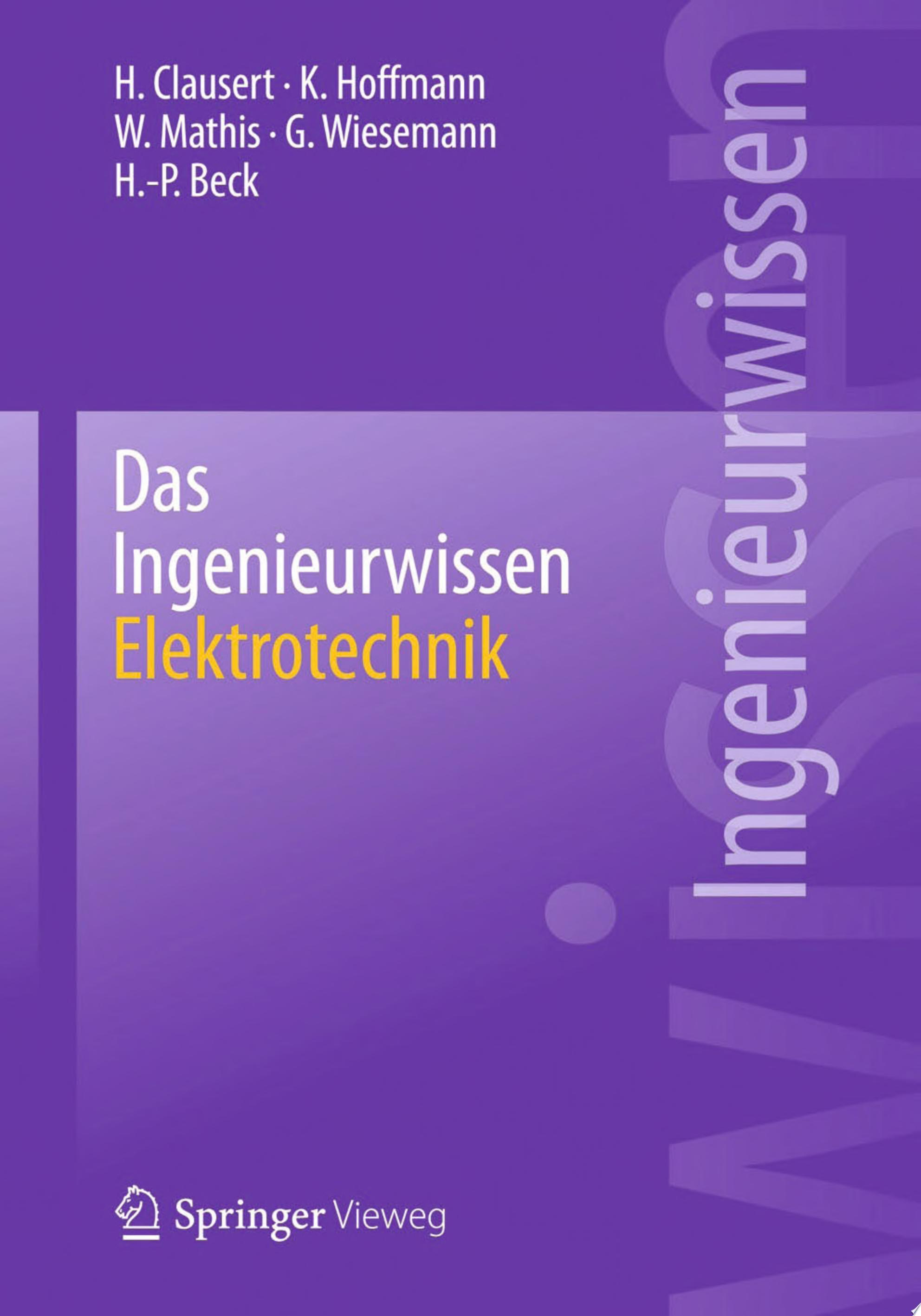 Das Ingenieurwissen  Elektrotechnik