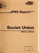 JPRS Report Book