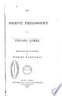 The positive philosophy of Auguste Comte, Cours de philosophie positive English