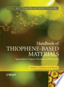 Handbook of Thiophene Based Materials