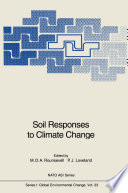Soil Responses To Climate Change Book PDF