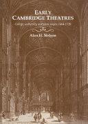 Early Cambridge Theatres