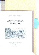 Cinco Poemas en Ingl  s