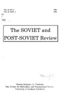 The Soviet and Post Soviet Review