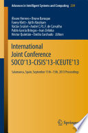 International Joint Conference SOCO   13 CISIS   13 ICEUTE   13 Book