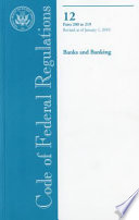 Code Of Federal Regulations Title 12 Banks And Banking Pt 200 219 Revised As Of January 1 2010