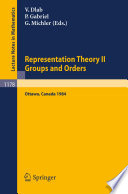 Representation Theory II  Proceedings of the Fourth International Conference on Representations of Algebras  held in Ottawa  Canada  August 16 25  1984 Book PDF