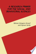 A Research Primer for the Social and Behavioral Sciences