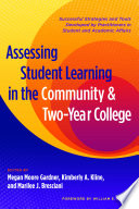 Assessing Student Learning in the Community and Two Year College
