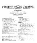 The Foundry Trade Journal