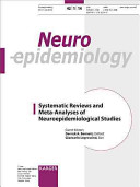 Systematic Reviews and Meta Analyses of Neuroepidemiological Studies Book