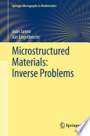 Microstructured Materials  Inverse Problems