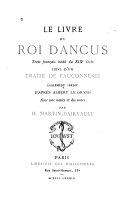 Le livre du roi Dancus