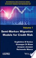 Semi Markov Migration Models for Credit Risk