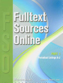 Fulltext Sources Online January 2010