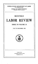 Monthly Labor Review Volume 31 July To December 1930