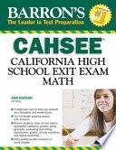 CAHSEE-Math  : California High School Exit Exam
