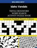 Idaho Vandals Trivia Crossword Word Search Activity Puzzle Book