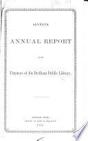 Annual Report Of The Trustees Of The Dedham Public Library