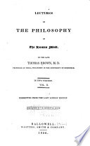 Lectures on the Philosophy of the Human Mind