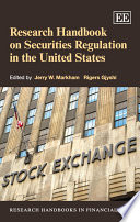 Research Handbook on Securities Regulation in the United States Book