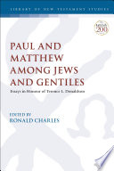 Paul And Matthew Among Jews And Gentiles