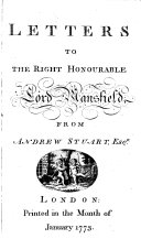 Letters to the Right Honourable Lord Mansfield from Andrew ...