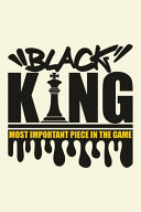 Chess Score Book Black King  The Most Important Piece in the Game