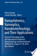 Nanophotonics  Nanooptics  Nanobiotechnology  and Their Applications