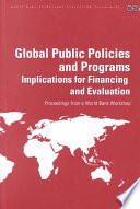 Global Public Policies And Programs Book PDF