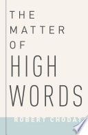 The Matter of High Words Book