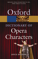 A Dictionary of Opera Characters
