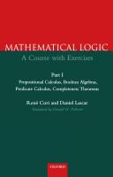 Mathematical Logic: Part 1
