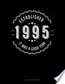 Established 1995 It Was A Good Year