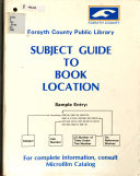 Subject Guide to Book Location