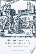 History and the Early English Novel