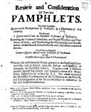 A Review and Consideration of Two Late Pamphlets