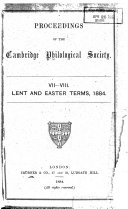 Proceedings of the Cambridge Philological Society
