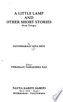 A Little Lamp and Other Short Stories from Telugu