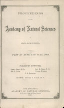 Proceedings of The Academy of Natural Sciences (Part II -- June and July, 1881) Pdf/ePub eBook