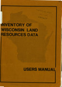 Inventory of Wisconsin Land Resources Data Book