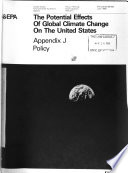 The Potential Effects of Global Climate Change on the United States