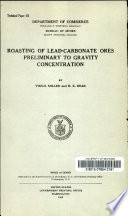 Roasting of Lead-carbonate Ores Preliminary to Gravity Concentration