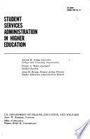 Student Services Administration in Higher Education Book
